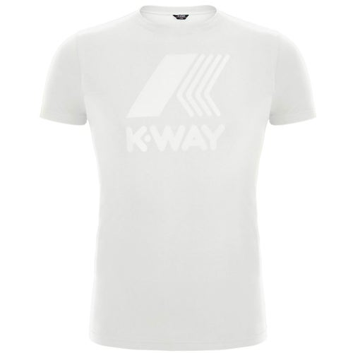 K-Way Elliot Macro Logo T Shirt - White Snow