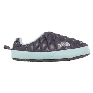 North Face Thermoball Tent Mule IV Ladies Slippers - Shiny Blackened Pearl Blue Haze