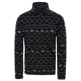 North Face M Nvlty Grdnlyns 1/4 Fleece - TNF Black Triangle Stripe Print