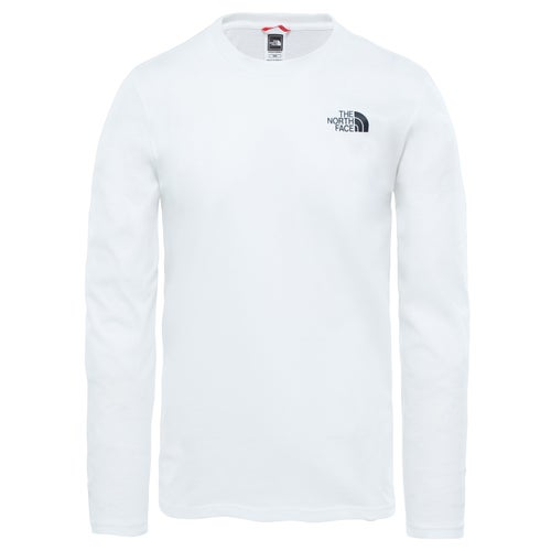 North Face Easy LS T-Shirt - TNF White