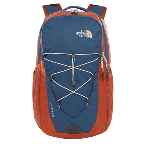 North Face Jester Backpack - Shady Blue Gingerbread Brown