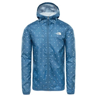 North Face Printed Cyclone Hooded Windproof Jacket - Shady Blue Tent Print
