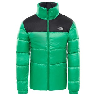 North Face Nuptse III Down Jacket - Primary Green TNF Black