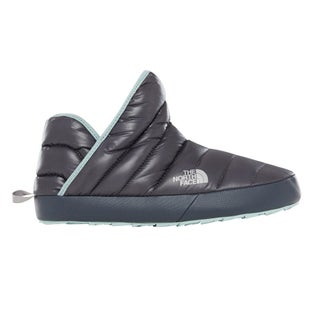 North Face Thermoball Traction Bootie Ladies Slippers - Shiny Blackened Pearl Blue Haze