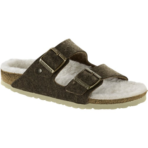 Birkenstock Arizona Felt Sandals - Double Face Khaki