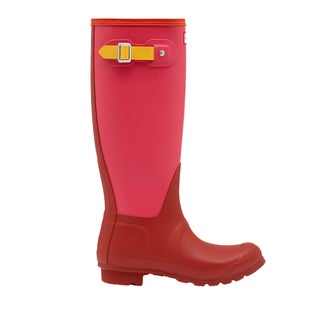 Hunter Original Tall Colour Block Ladies Wellies - Military Red