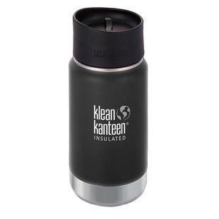 Klean Kanteen Vacuum Insulated Wide 355ml with Cafe Cape 2.0 Flask - Shale Black