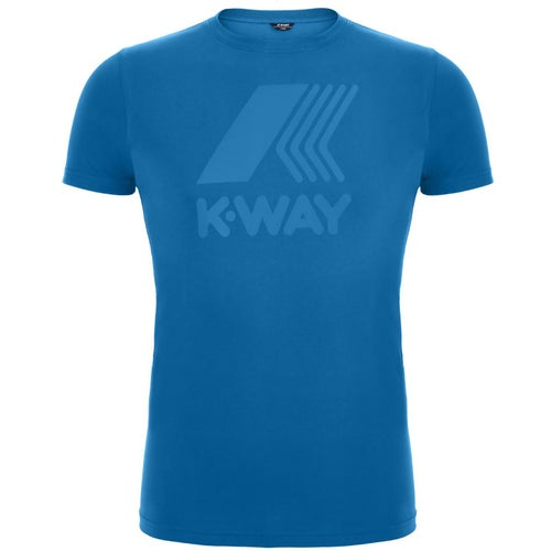 K-Way Elliot Macro Logo T Shirt - Blue France