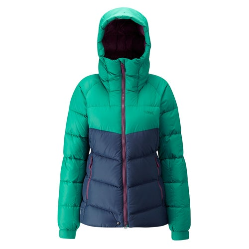 Rab Escape Asylum Jkt Wmns Down Jacket - Fresh Green/ Deep Ink