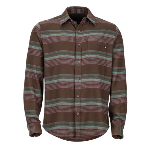 Marmot Enfield Midweight Flannel Shirt - Dark Brown