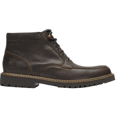 Rockport Marshall Rugged Moc Toe Boots - Saddle Brown