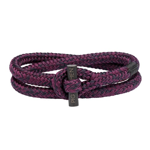 Pig and Hen Tiny Ted Bracelet - Purple-black