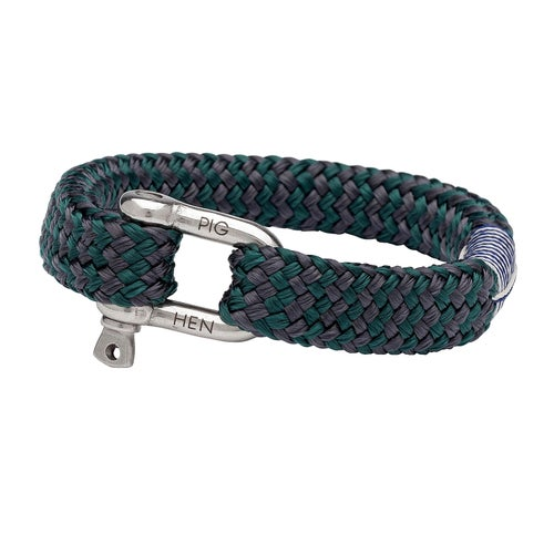 Pig and Hen Gorgeous George Bracelet - Slate Gray-petrol