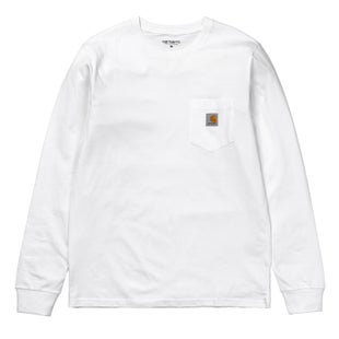 Carhartt Pocket LS T-Shirt - White