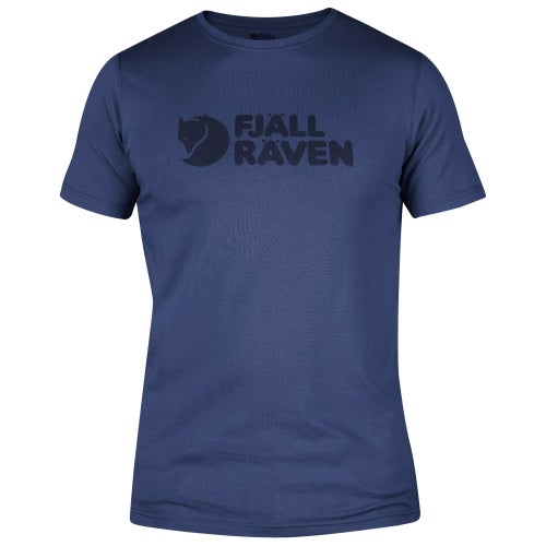Fjallraven Logo T Shirt - Deep Blue