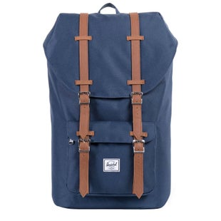 Herschel Little America Backpack - Navy/tan Synthetic Leather