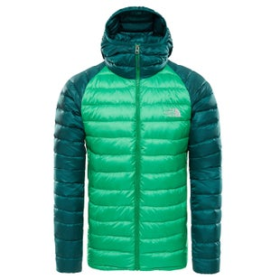 North Face Trevail Hooded Down Jacket - Primarygrn/botnclgardngrn