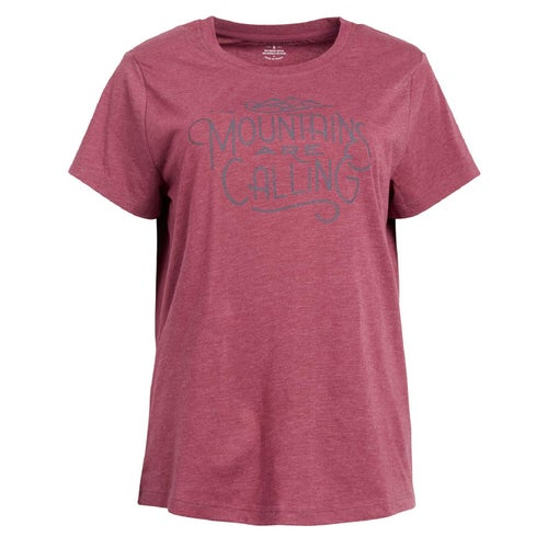 United by Blue Mountains Are Calling T Shirt - Wine