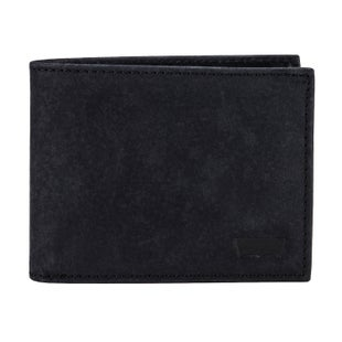 Levis Sueded Batwing Bifold Wallet - Black