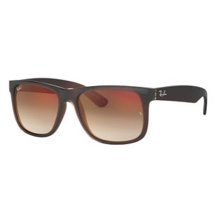 Ray-Ban Justin Flash Sunglasses - Brown ~ Brown Gradient Mirror