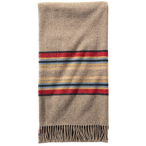 Pendleton 5th Avenue Acadia Park Merino Wool Throw Blanket - Mineral Umber