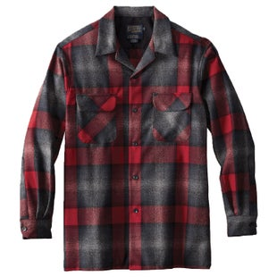 Pendleton Ls Fitted Board Shirt - Black/grey Mix/red Ombre