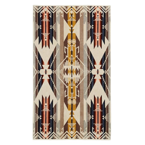 Pendleton Oversized Jacquard Beach Towel - White Sands Tan