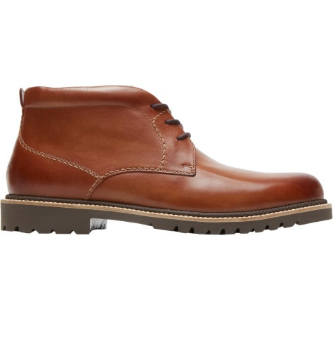 Rockport Marshall Chukka Boots - Cognac Leather