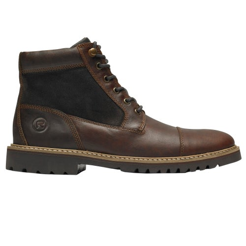 Rockport Marshall R Cap Toe Boots - Saddle Brown