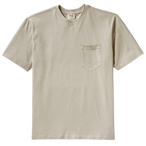 Filson Outfitter Solid One Pocket T Shirt - Pebble Grey
