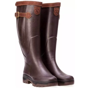 Aigle Parcour 2 Signature Wide Foot Wellies - Brun
