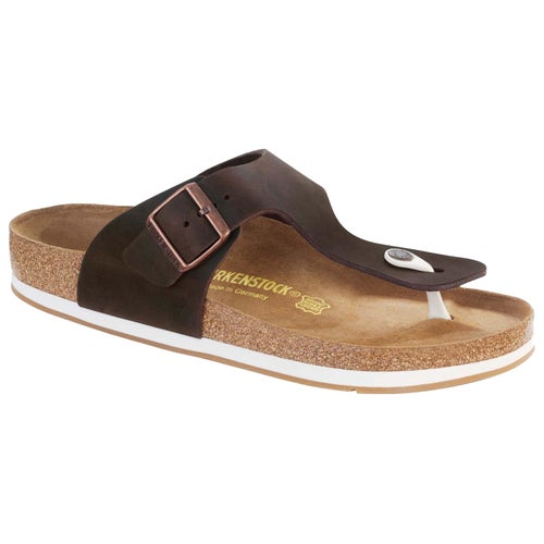 Birkenstock Rames Oiled Leather Sandals - Habana