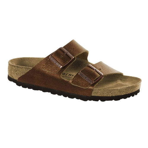 Birkenstock Arizona Washed Metalic Leather Sandals - Antique Copper
