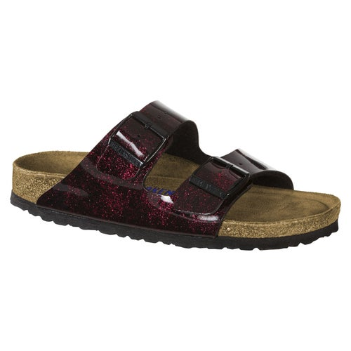 Birkenstock Arizona Birko Flor Soft Footbed Sandals - Iride Strong Red