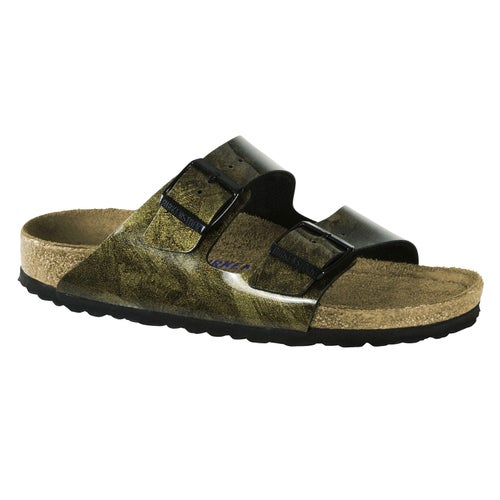 Birkenstock Arizona Birko Flor Soft Footbed Sandals - Iride Strong Gold