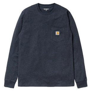 Carhartt Pocket LS T-Shirt - Dark Navy Heather