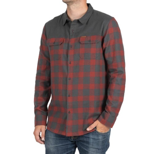 Passenger Clothing Sawtooth Shirt - Burgundy/grey