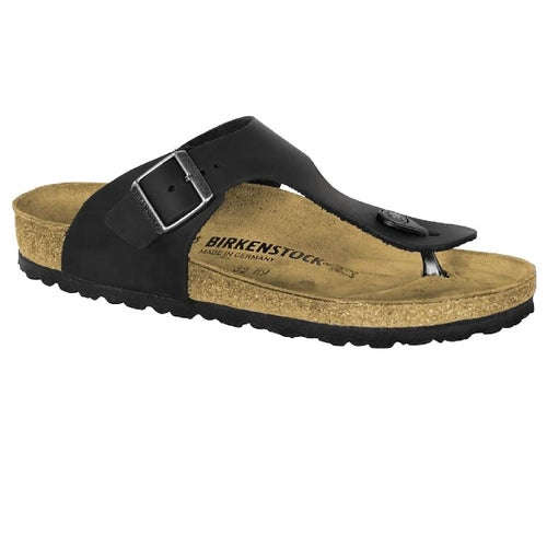 Birkenstock Rames Oiled Leather Sandals - Black