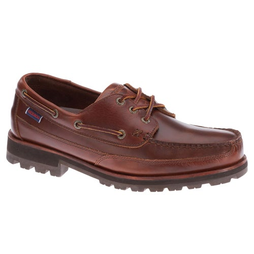 Sebago Vershire Three Eye FGL Slip On Shoes - Brown Cinamon