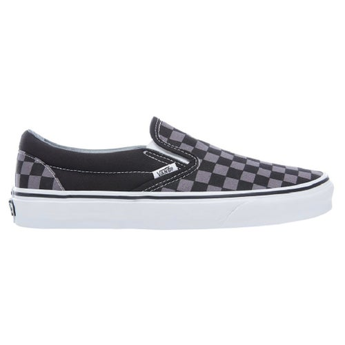 Vans Classic Slip On Shoes - Black Pewter Checkerboard