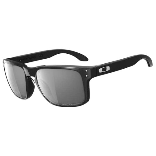 Oakley Holbrook Polarised Sunglasses - Polished Black ~ Grey