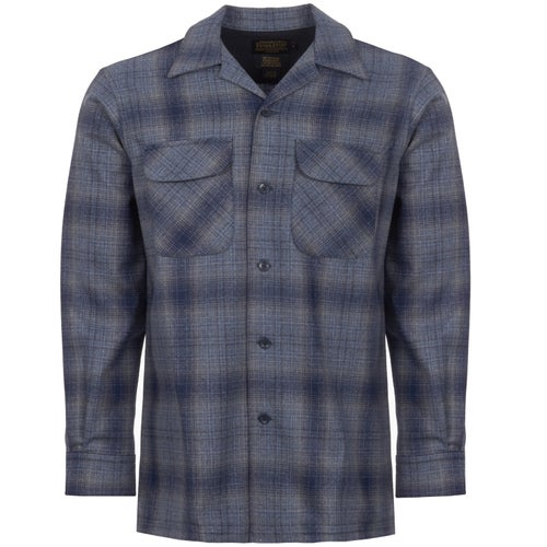 Pendleton Ls Fitted Board Shirt - Blue/grey Ombre