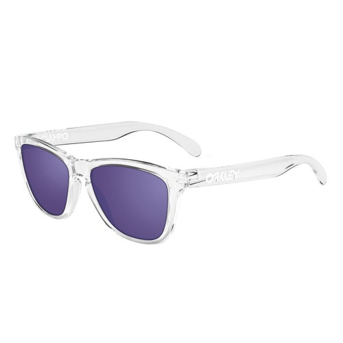 Oakley Frogskins Sunglasses - Polished Clear ~ Violet Iridium