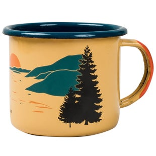 United by Blue Inlet Enamel Steel Cup - Yellow
