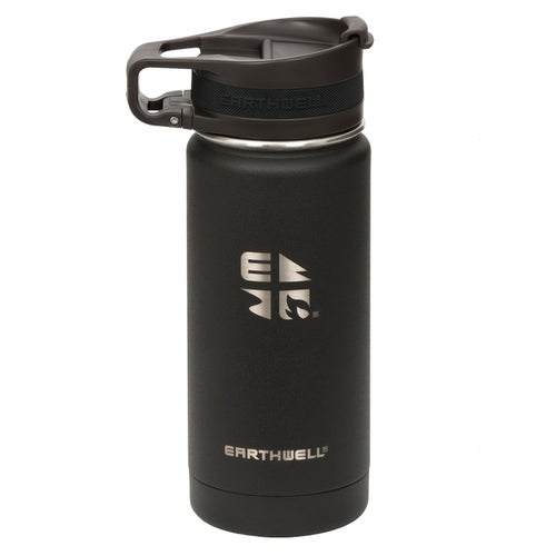 Earthwell Cup 16oz Water Bottle - Volcanic Black