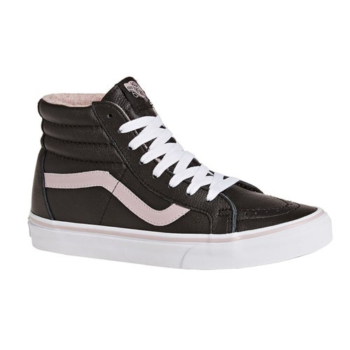 Vans Sk8 Hi Reissue Leather Flannel Shoes - Violet Ice True White