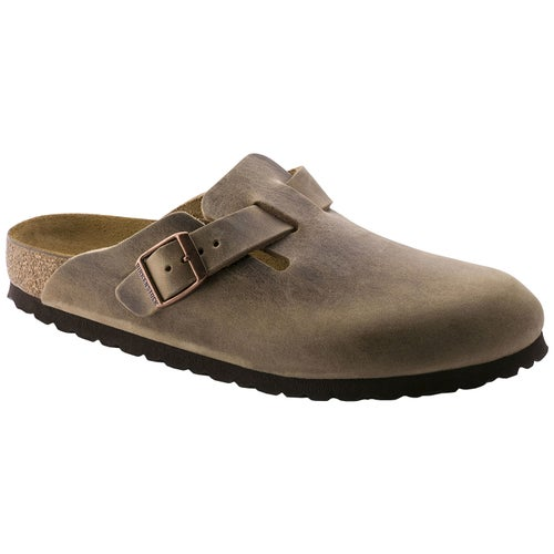 Birkenstock Boston Oiled Leather Slip On Shoes - Tabacco Brown