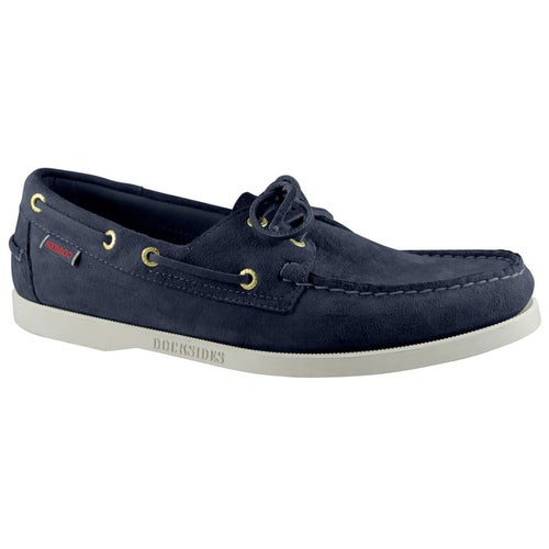 Sebago Dockside Portland Slip On Shoes - Blue Navy Suede