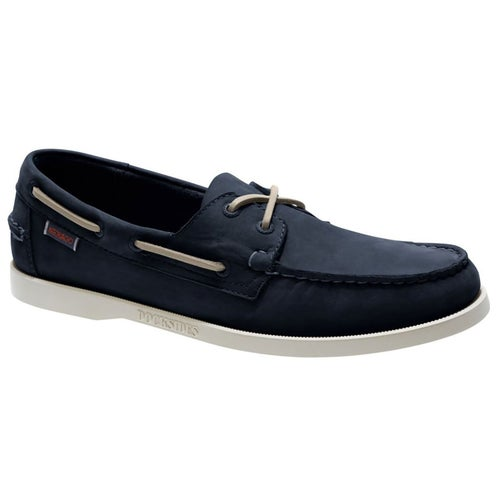 Sebago Dockside Portland Slip On Shoes - Blue Navy Nubuck