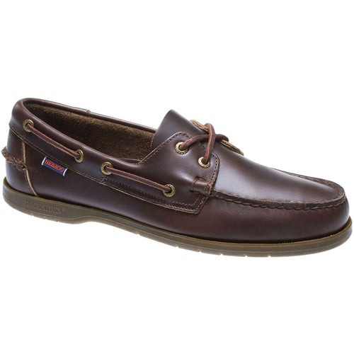 Sebago Endeavour FGL Slip On Shoes - Dark Brown Gum Oiled Waxy
